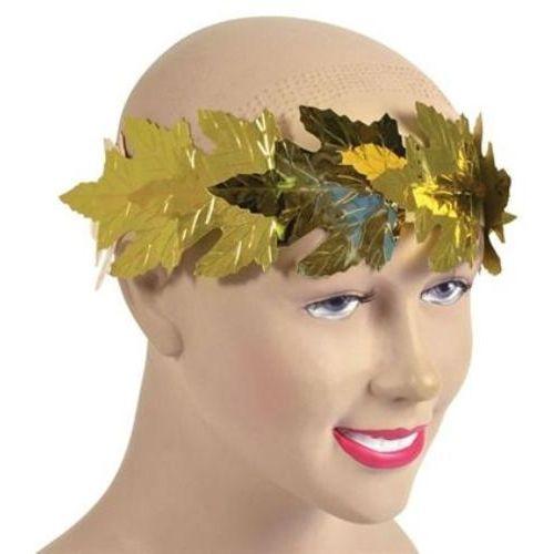 Gold Foil Laurel Leaf Crown Fancy Dress Accessory