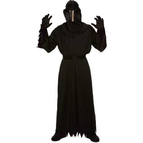 Death Halloween Fancy Dress Costume With Mirrored Mask Size M-L