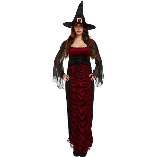 Ruby Witch Halloween Fancy Dress Costume Size 12-14