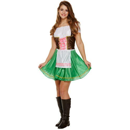 Bavarian Lady Oktoberfest Fancy Dress Costume Size 12-14