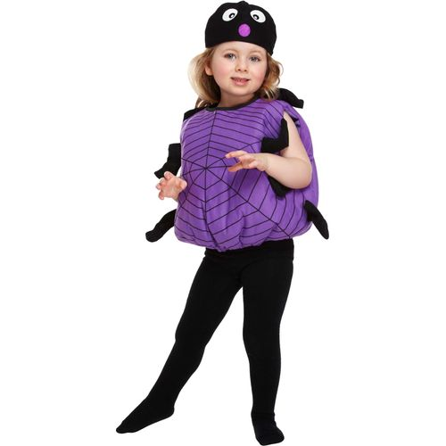 Childs Spider Halloween Fancy Dress Costume Toddler Age 3 Years