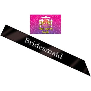 Bridesmaid Sash (Black)