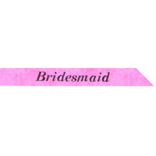 Hot Pink Bridesmaid Sash Hen Party Accessory