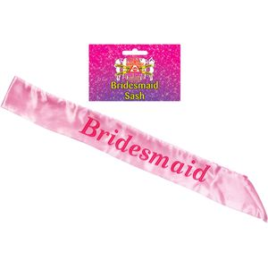 Bridesmaid Sash (Pink)