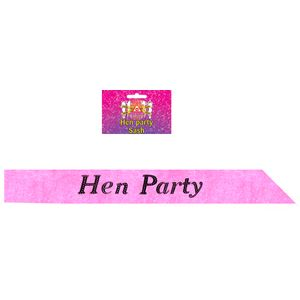 Hen Party Sash (Hot Pink)