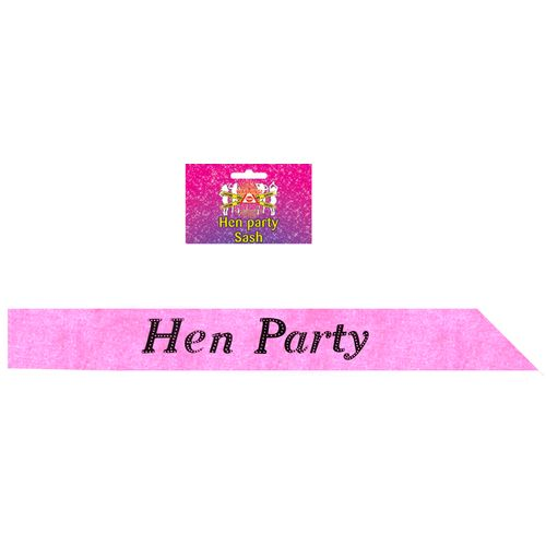 Hot Pink Hen Party Sash Hen Night Accessory