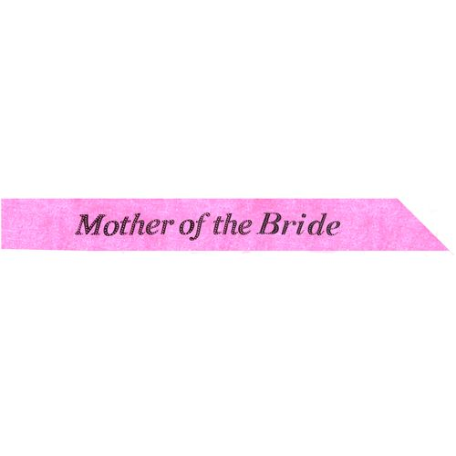 Hot Pink Mother of the Bride Sash Hen Party Accessory