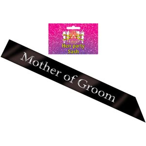 Mother of Groom Sash (Black)