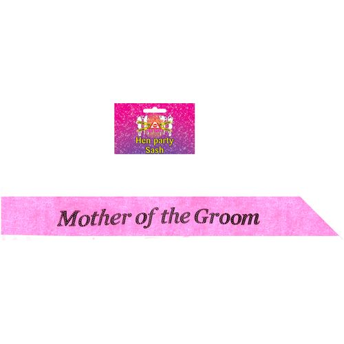 Hot Pink Mother of the Groom Sash Hen Party Accessory