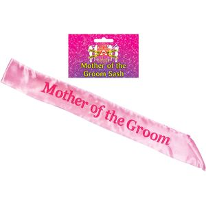 Mother of the Groom Sash (Pink)