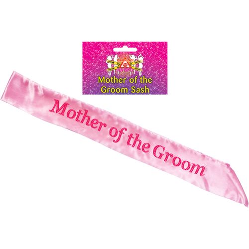 Pink Mother of the Groom Hen Party Accessory