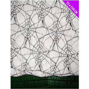 Black Lace Spider Web Table Display Cloth 55 x 150 cm