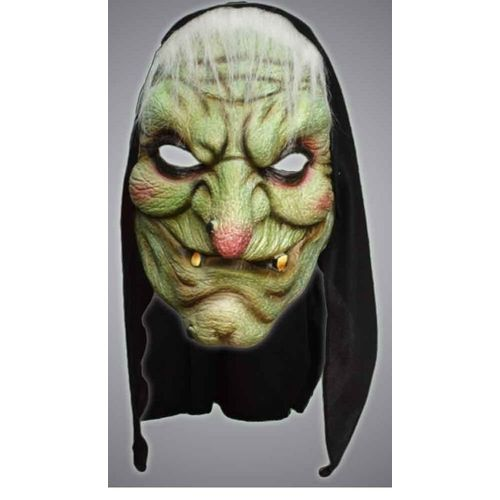Witch Hooded Face Mask Halloween and Fancy Dress Accessory