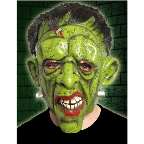 Frankenstein Mask With Hair  Halloween Fancy Dress Acceessory