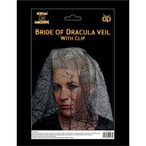 Bride Of Dracula Veil With Hair Clip
