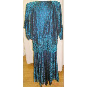 1980s Evening Dress Fancy Dress Costume Size 8