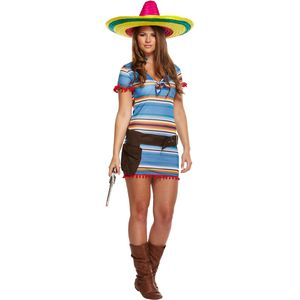 Mexican Tequila Girl Costume Size 12-14