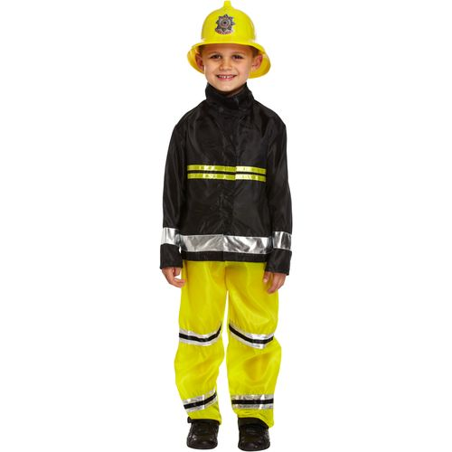 Childs Fireman Fancy Dress Costume Age 7-9 Years