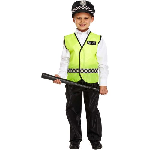 Childs Policeman Fancy Dress Costume Age 10-12 Years
