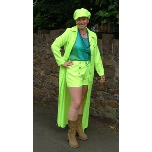 70`s Hot Pants Suit Ex Hire Fancy Dress Sale Costume Size 12-14