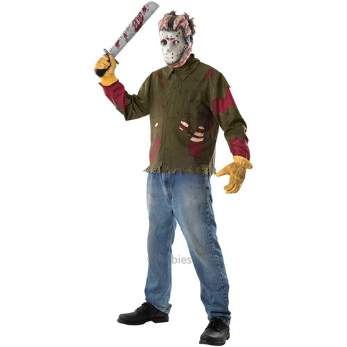 Jason Voorhees Friday the 13th Halloween Fancy Dress Costume  Size XL