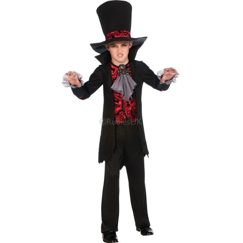 Childs Vampire Lord Halloween Fancy Dress Costume Age 7-8 Years
