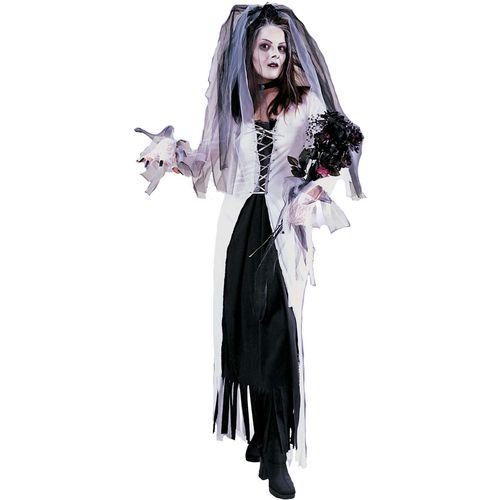 Skeleton Bride Halloween Fancy Dress Costume Size 10-12