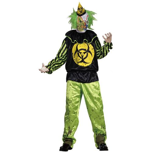 Toxic Bill Horror Clown Halloween Fancy Dress Costume Size M