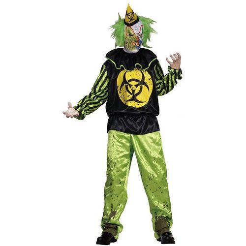 Toxic Bill Horror Clown Halloween Fancy Dress Costume Size M