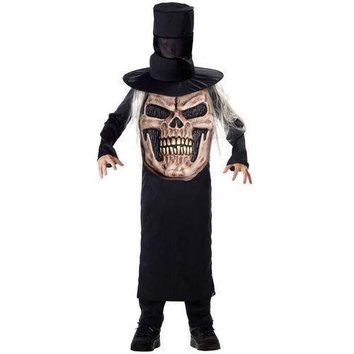 Childs Evil Skull Mad Hatter Halloween Fancy Dress Costume Age  7-9 Years