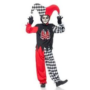 Blood Curdling Jester Costume Teen Size Age 13 Years