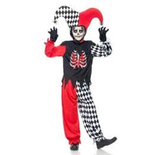 Blood Curdling Jester Halloween Fancy Dress Costume Teen Size Age 13+ Years