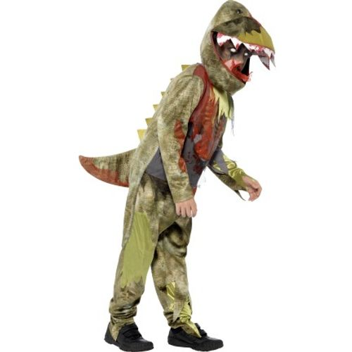 Childs Deluxe Deathly Dinosaur Fancy Dress Halloween Costume Age 10-12 Years