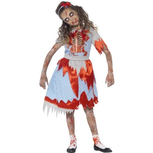 Childs Zombie Dorothy Halloween Fancy Dress Costume Age 7-9 Years