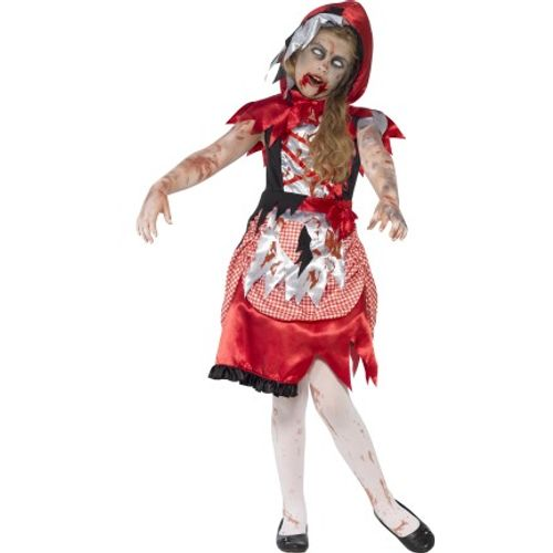 Childs Zombie Red Riding Hood Halloween Fancy Dress Costume Age 7-9 Years