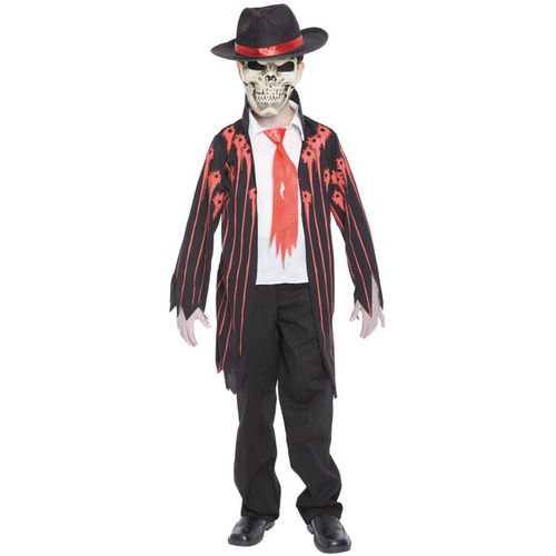 Childs Mad Mobster Halloween Fancy Dress Costume Age 7-9 Years