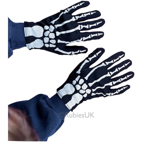 Child Skeleton Gloves Halloween Fancy Dress Costume Accessory