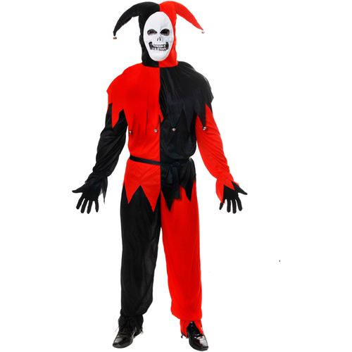 Evil Jester Halloween Fancy Dress Costume Size M-L