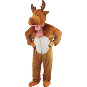 Reindeer Rudolph Big Head Mascot Costume