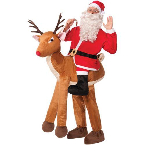 Deluxe Santa Ride-A-Reindeer Costume Fun Christmas Santa Xmas Costumes