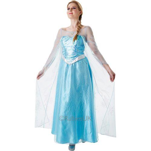 Adult Elsa Frozen Fancy Dress Costume Size 12-14
