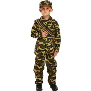 Childs Army Boy Soldier Camo Costume Age 10-12 Years