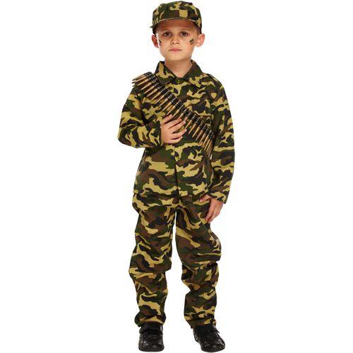 Childs Army Boy Camo Costume 10 - 12 Years Kids Fancy Dress
