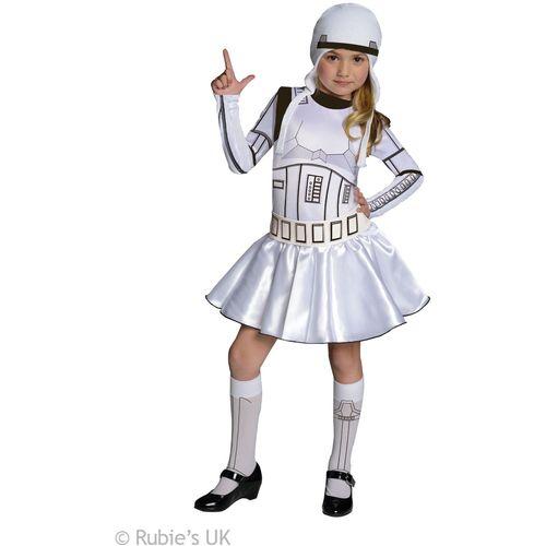 Childs Storm Trooper Girl Star Wars Official Licensed Fancy Dress Costume Age 8-10 Y