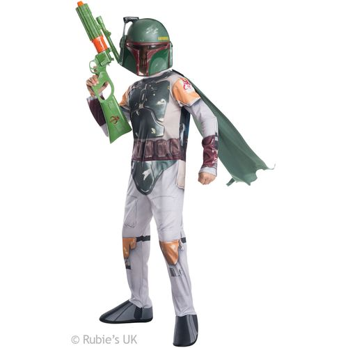 Childs Boba Fett Star Wars Official Licensed Fancy Dress Costume Size 3-4 Years
