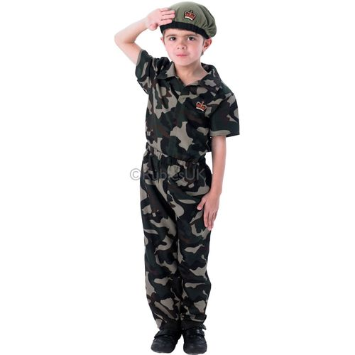 Deluxe Private Soldier Fancy Dress Costume Age 7-8 Years