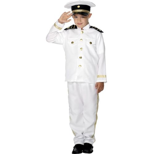 Childs Captain Fancy Dress Costume Age 10-12 Years
