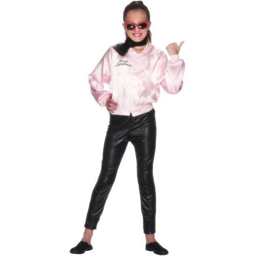 Childs Official Grease Pink Ladies Jacket Fancy Dress Age 3-5 Years