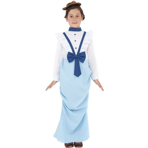 Childs Posh Victorian Girl Fancy Dress Costume Age 7-9 Years