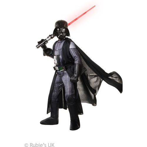 Childs Darth Vader Super Deluxe Official Licensed Star Wars Fancy Dress Costume Age 8-10 Years